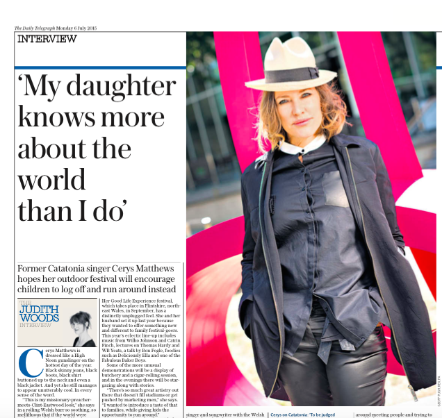 Talking The Good Life Experience in the Telegraph today