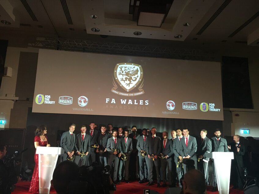 Singing for FA Wales and the Welsh football team