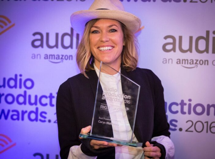 Cerys receives Best Music Presenter award at Audio Production Awards 2016