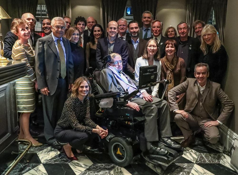 Having dinner with Stephen Hawking
