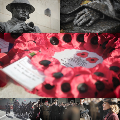 Reading of 'In Memoriam' : Armistice Day, The Cenotaph, Whitehall, London